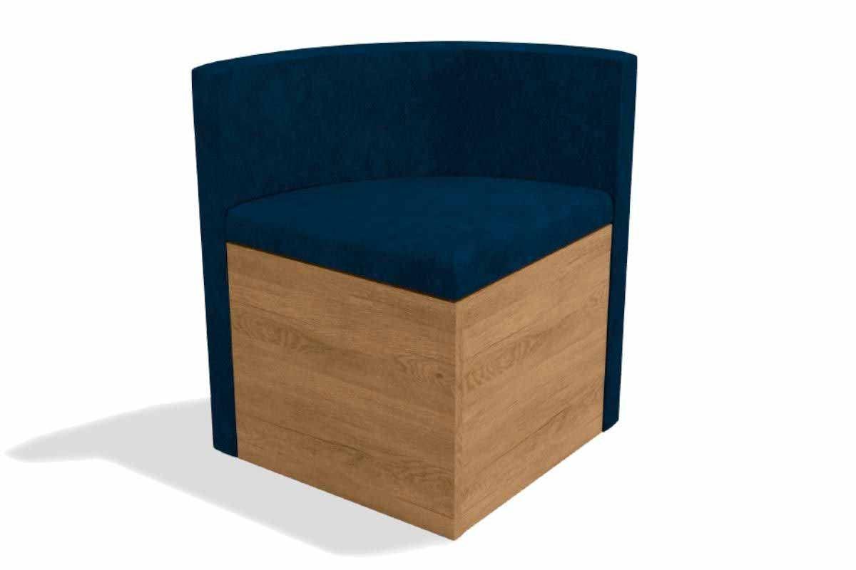 Cadeira Kappesberg Estar 4CAD800 Madeira - 4 UnidadesCor Nogal/Freijó - Assento/Encosto Veludo Azul Marinho D008