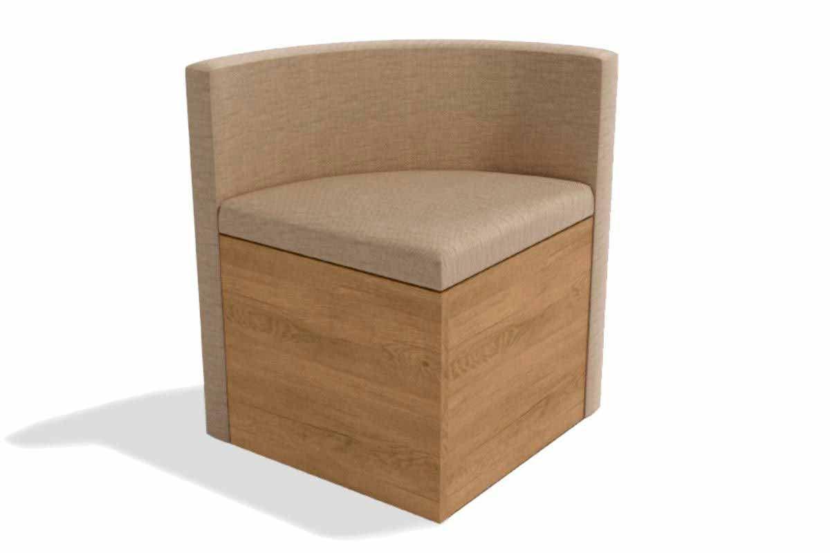 Cadeira Kappesberg Estar 4CAD800 Madeira - 4 UnidadesCor Nogal/Freijó - Assento/Encosto Linho Bege A019