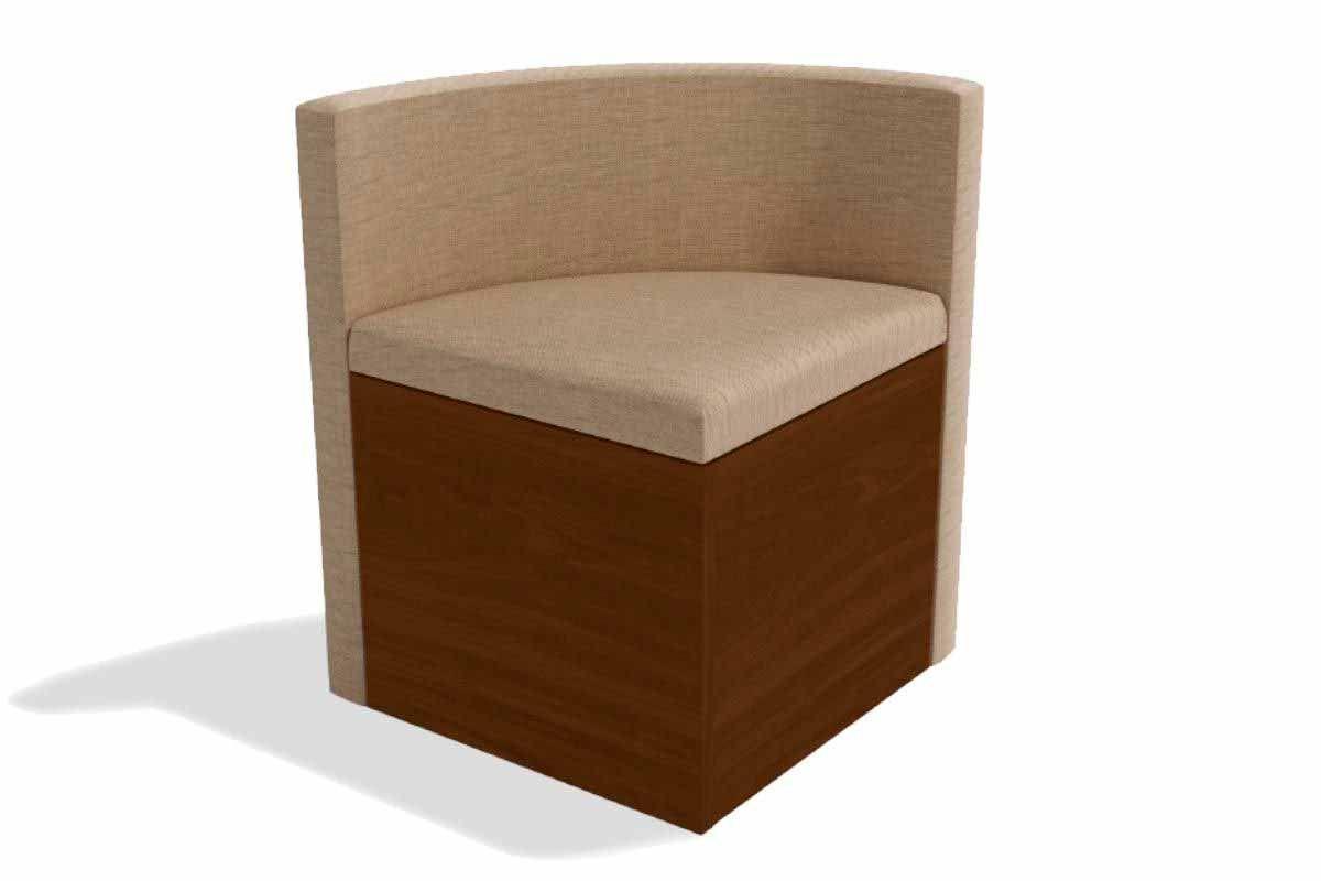 Cadeira Kappesberg Estar 4CAD800 Madeira - 4 UnidadesCor Walnut - Assento/Encosto Linho Bege A019