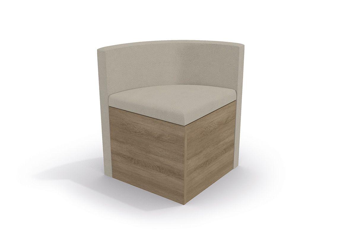 Cadeira Kappesberg Estar 4CAD800 Madeira (4 Unidades)Cor Nogal  -  Assento/Encosto Bege