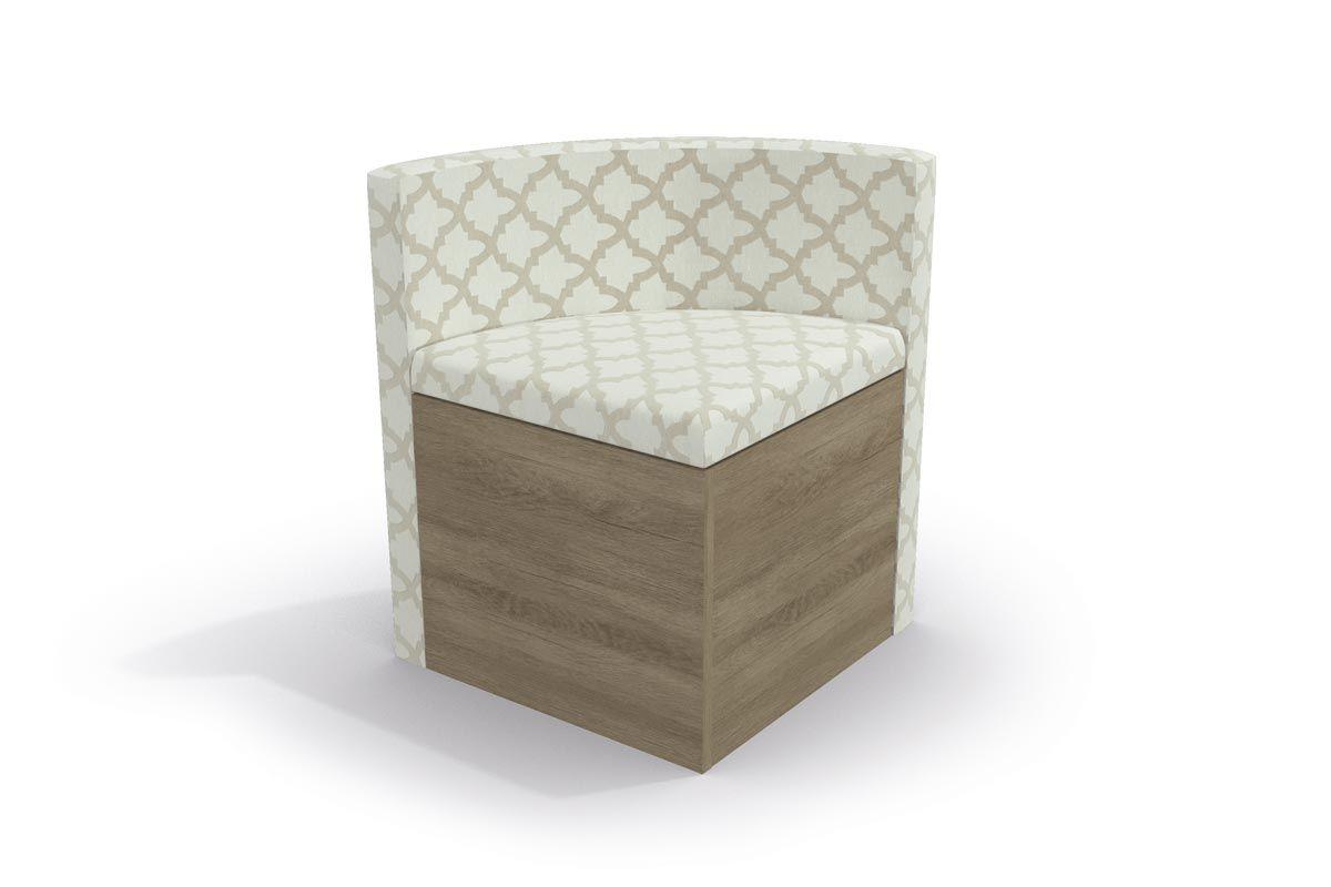 Cadeira Kappesberg Estar 4CAD800 Madeira (4 Unidades)Cor Nogal - Assento/Encosto Linho Bege Folha de Plátano