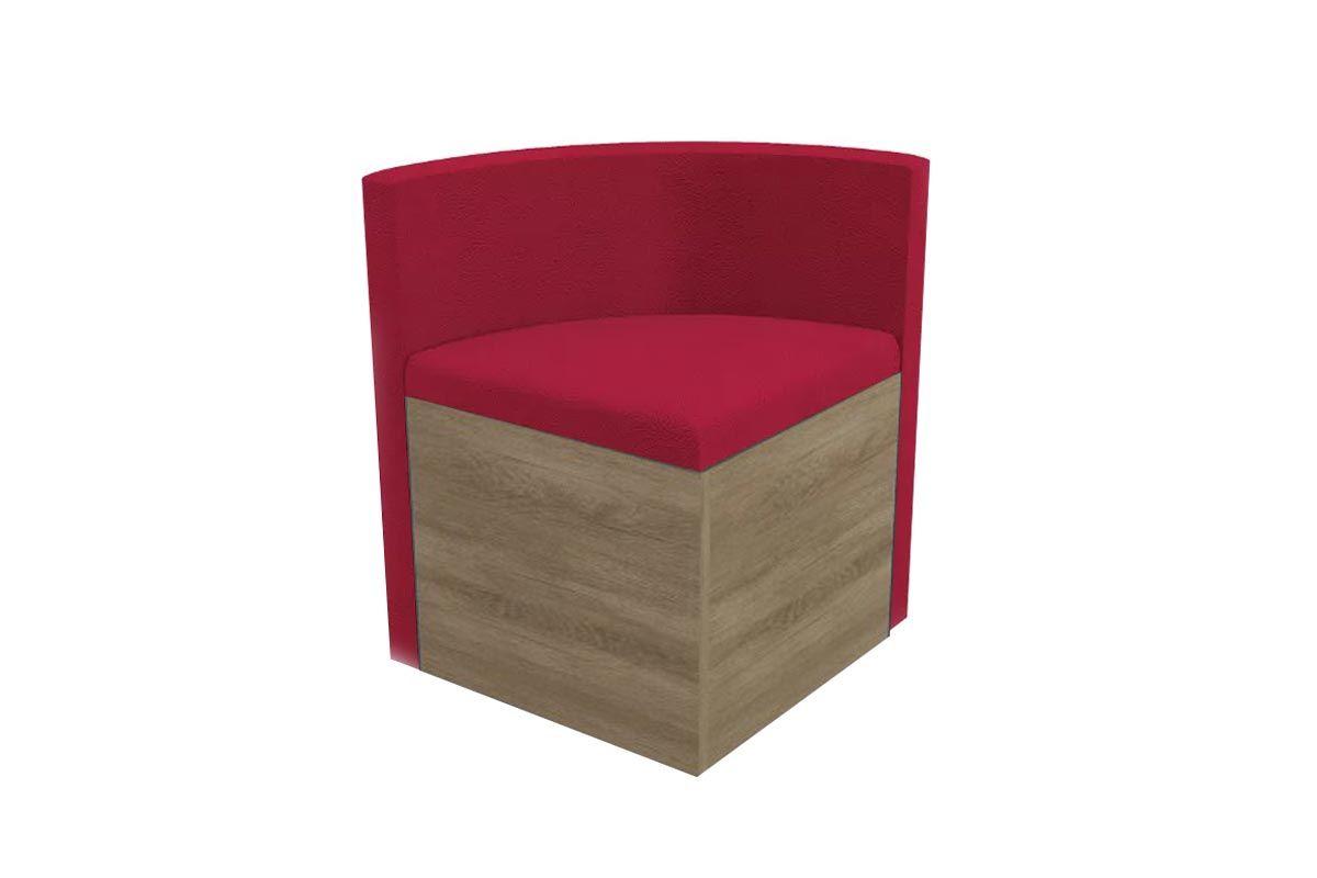 Cadeira Kappesberg Estar 4CAD800 Madeira (4 Unidades)Cor Nogal - Assento/Encosto Vermelho