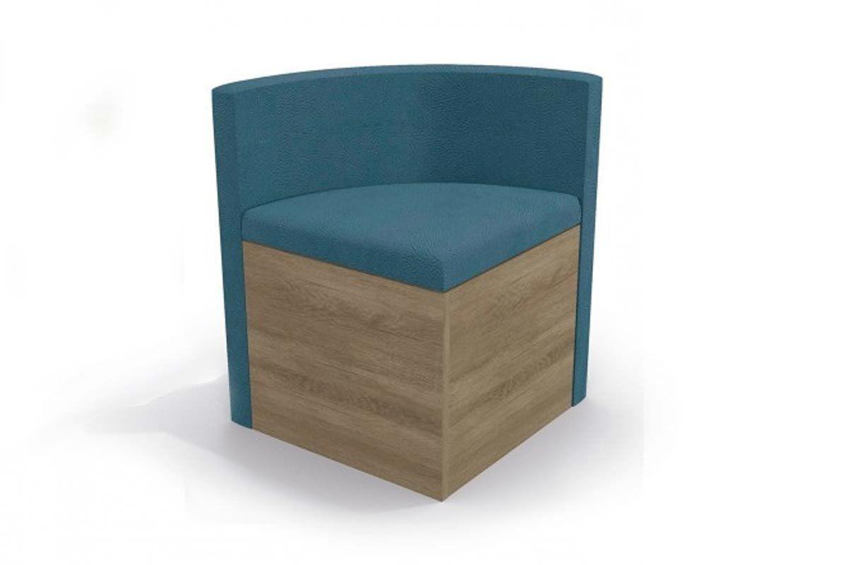 Cadeira Kappesberg Estar 4CAD800 Madeira (4 Unidades)Cor Nogal - Assento/Encosto Azul