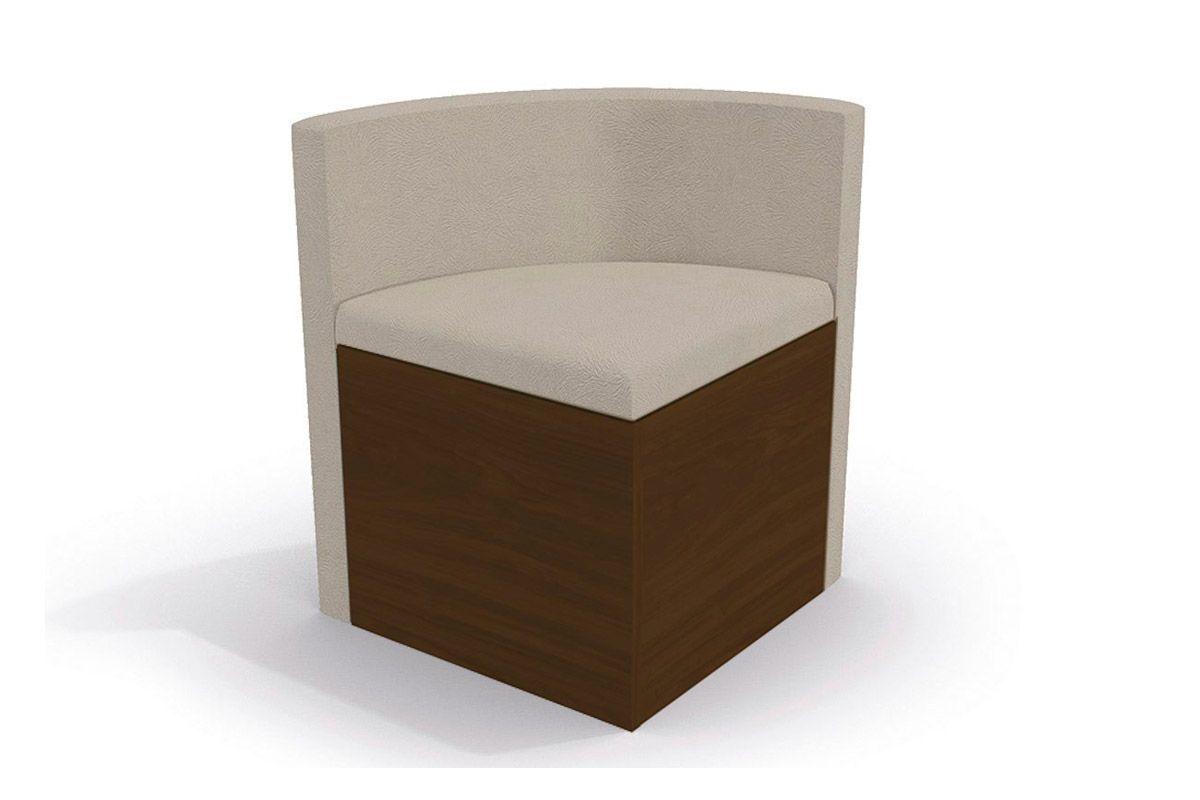 Cadeira Kappesberg Estar 4CAD800 Madeira (4 Unidades)Cor Walnut Fosco - Assento/Encosto Bege D002