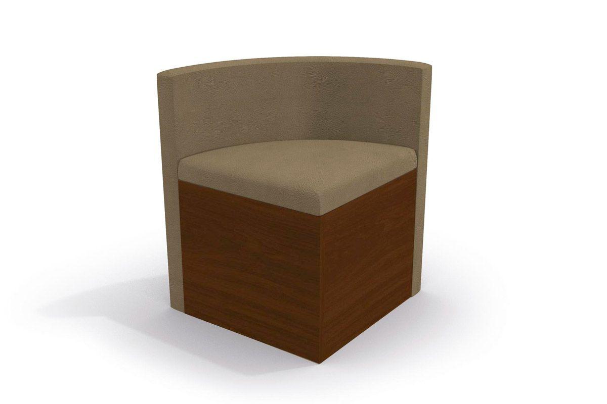 Cadeira Kappesberg Estar 4CAD800 Madeira (4 Unidades)Cor Walnut Fosco - Assento/Encosto Caramelo