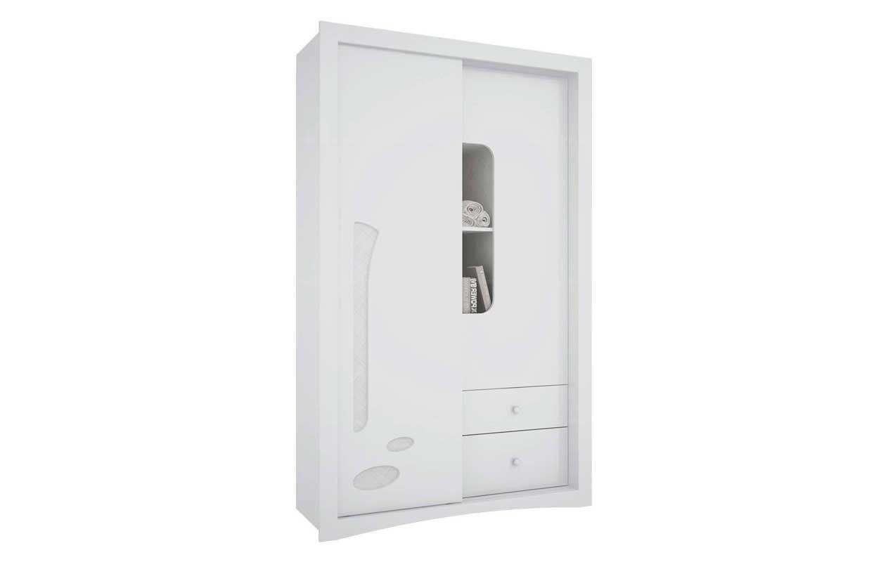 Guarda Roupa Infantil Henn Favo de Mel c/ 1 Porta DeslizanteCor Branco