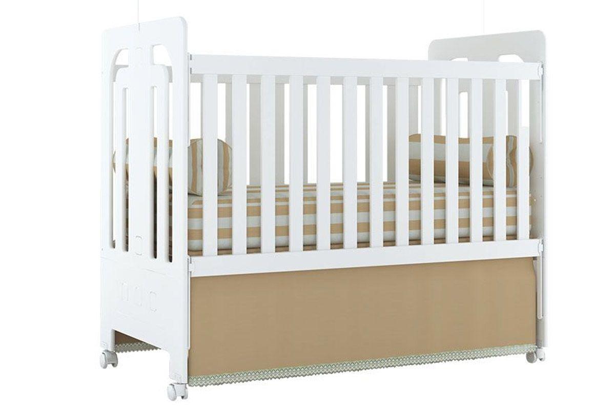 Berço e Mini Cama Infantil Henn Maçã do AmorCor Branco
