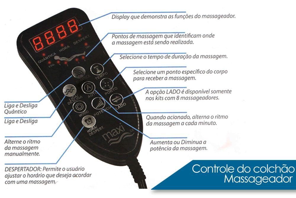 Colchão Anjos Confort Magnético Terapêutico c/ Infravermelho e Massagemn