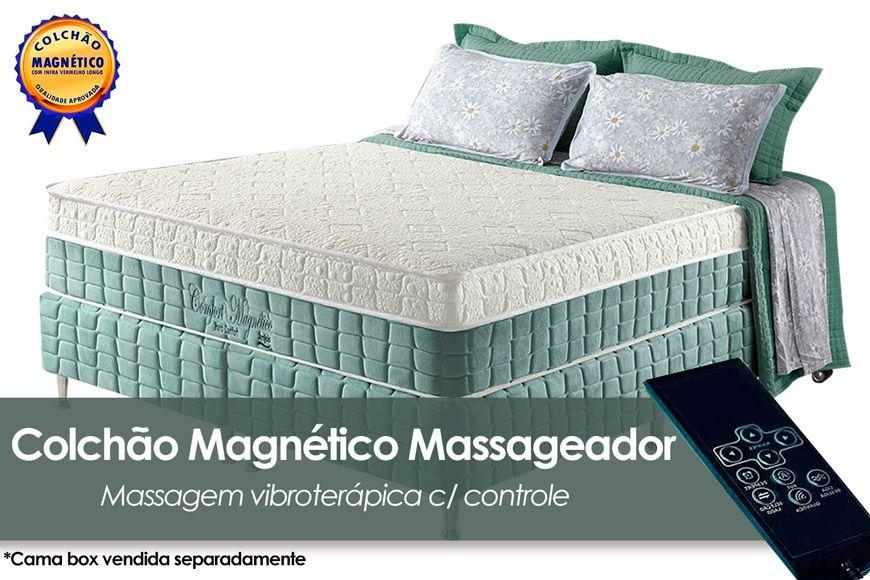 Colchão Anjos Confort Magnético Terapêutico c/ Infravermelho e MassagemnColchão Casal - 1,38x1,88x0,32 - Sem Cama Box