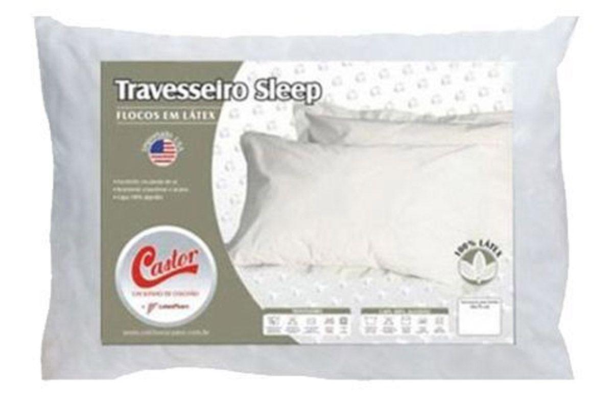 Travesseiro Castor Sleep Flocos de Látex 0,45x0,65Travesseiro Flocos Latéx
