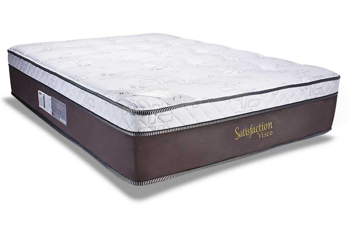 Colchão Luckspuma Molas Pocket Satisfaction Visco SuedColchão King Size - 1,93x2,03x0,36 - Sem Cama Box