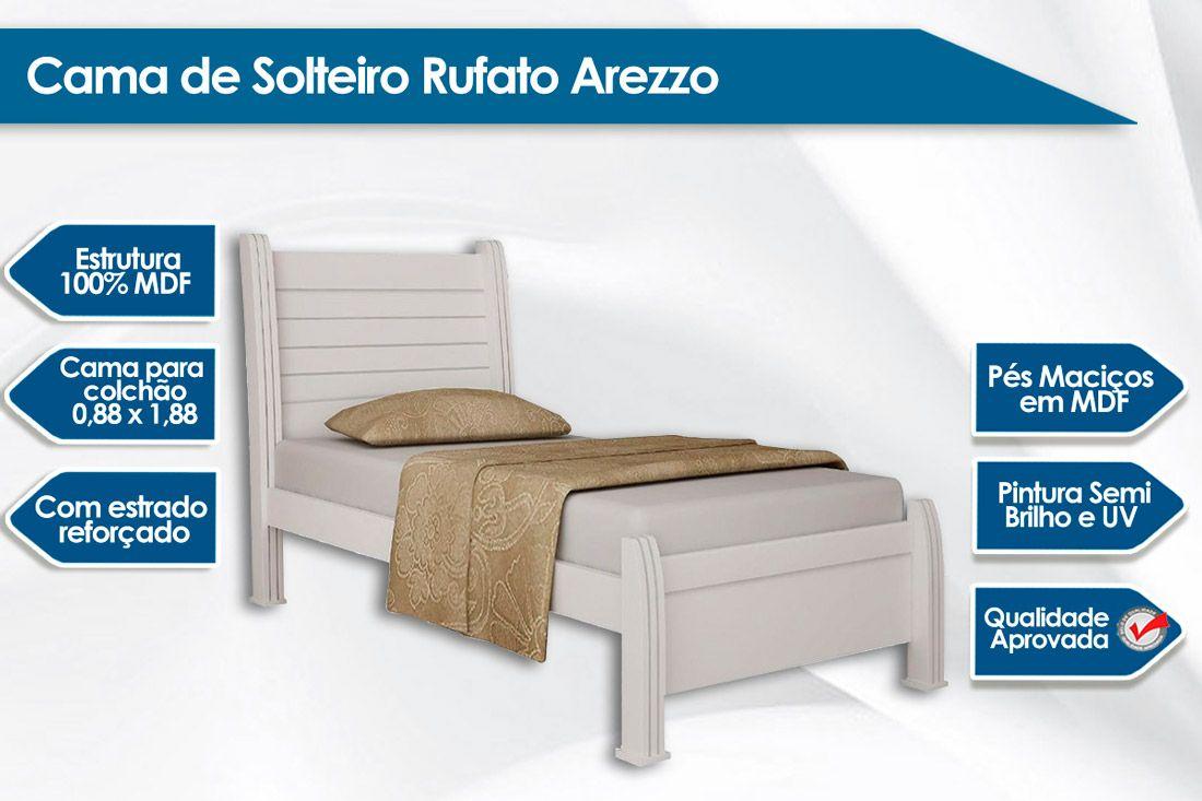 Cama de Solteiro Rufato Arezzo