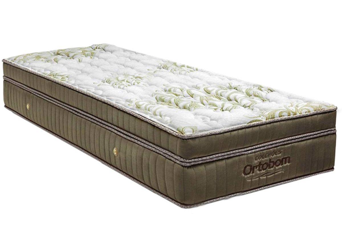 Colchão Ortobom de Molas Pocket Gold Visco UltraGelColchão Solteiro - 0,88x1,88x0,32 - Sem Cama Box