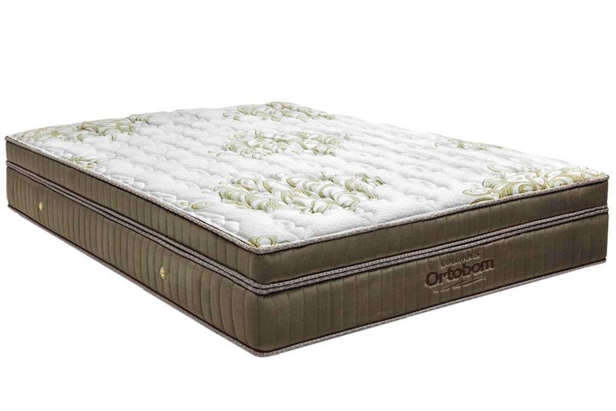 Colchão Ortobom de Molas Pocket Gold Visco UltraGelColchão Queen Size - 1,58x1,98x0,32 - Sem Cama Box