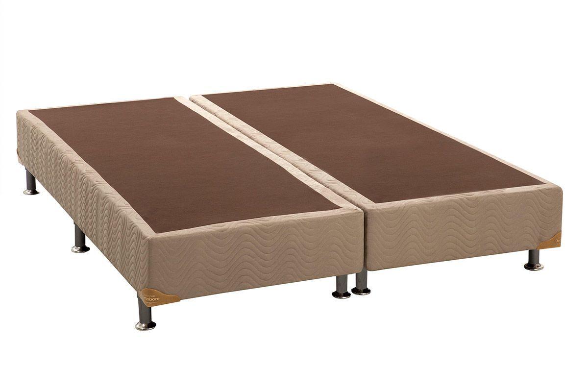 Cama Box Base Universal Nobuck Bege Crema 20Cama Box King Size - 1,86x1,98x0,20 - Sem Colchão