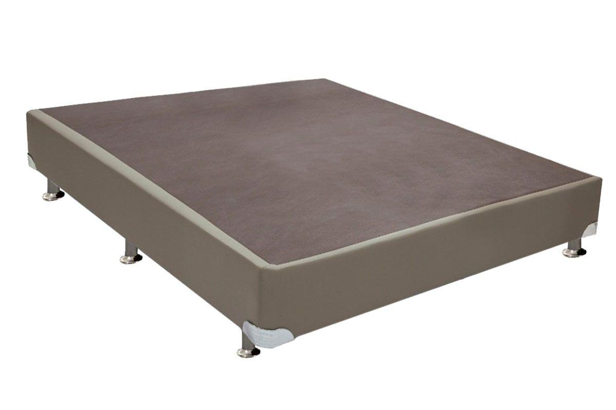 Cama Box Base Universal Couríno Bege Crema 0,20Cama Box Casal - 1,28x1,88x0,20 - Sem Colchão