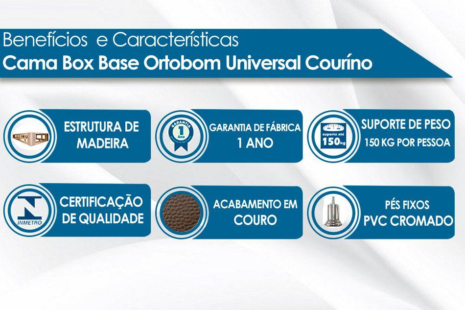 Cama Box Base Universal Ortobom Couríno Cinza 20