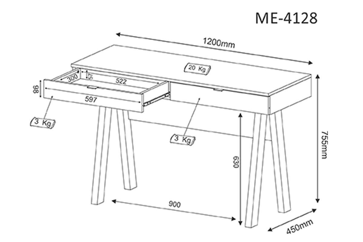 Escrivaninha Tecno Mobili MR-4128