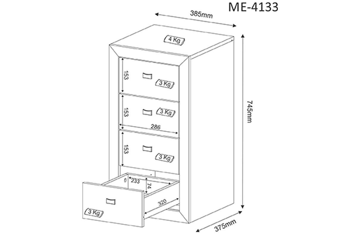 Gaveteiro p/ Escritório Tecno Mobili ME-4133