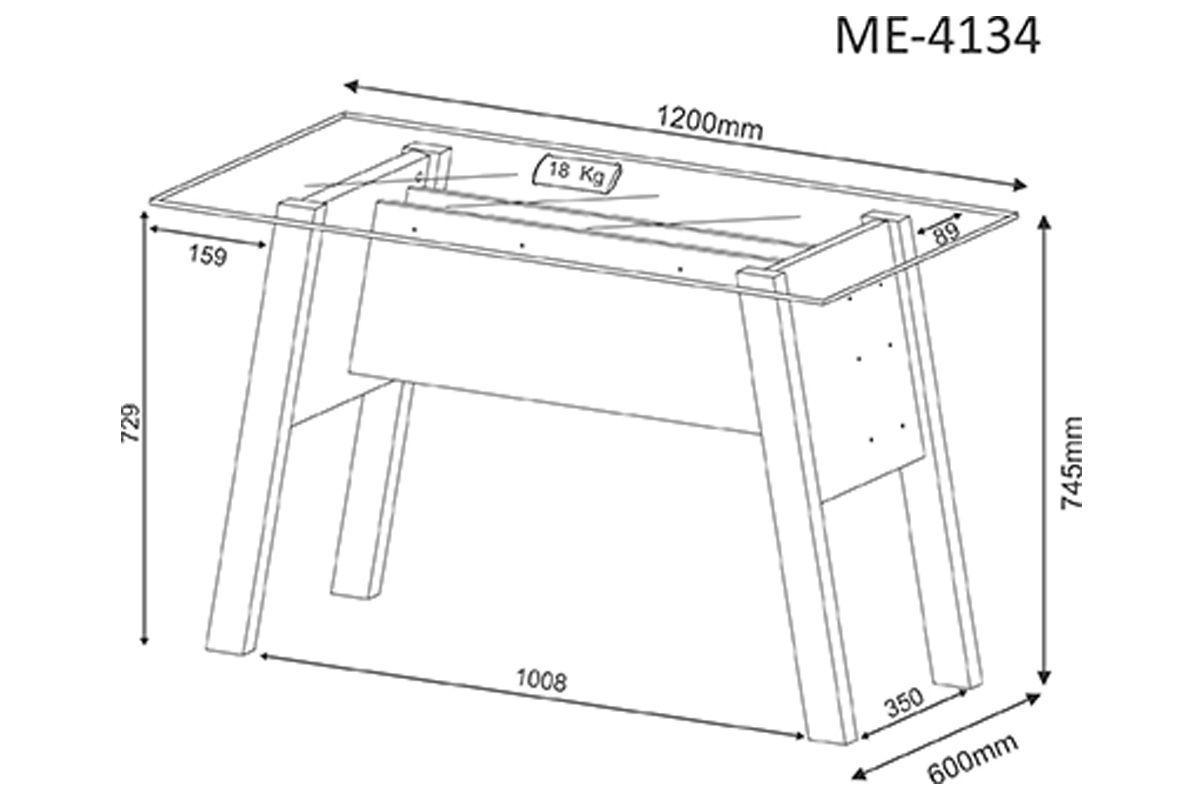 Mesa p/ Escritório Tecno Mobili ME-4134