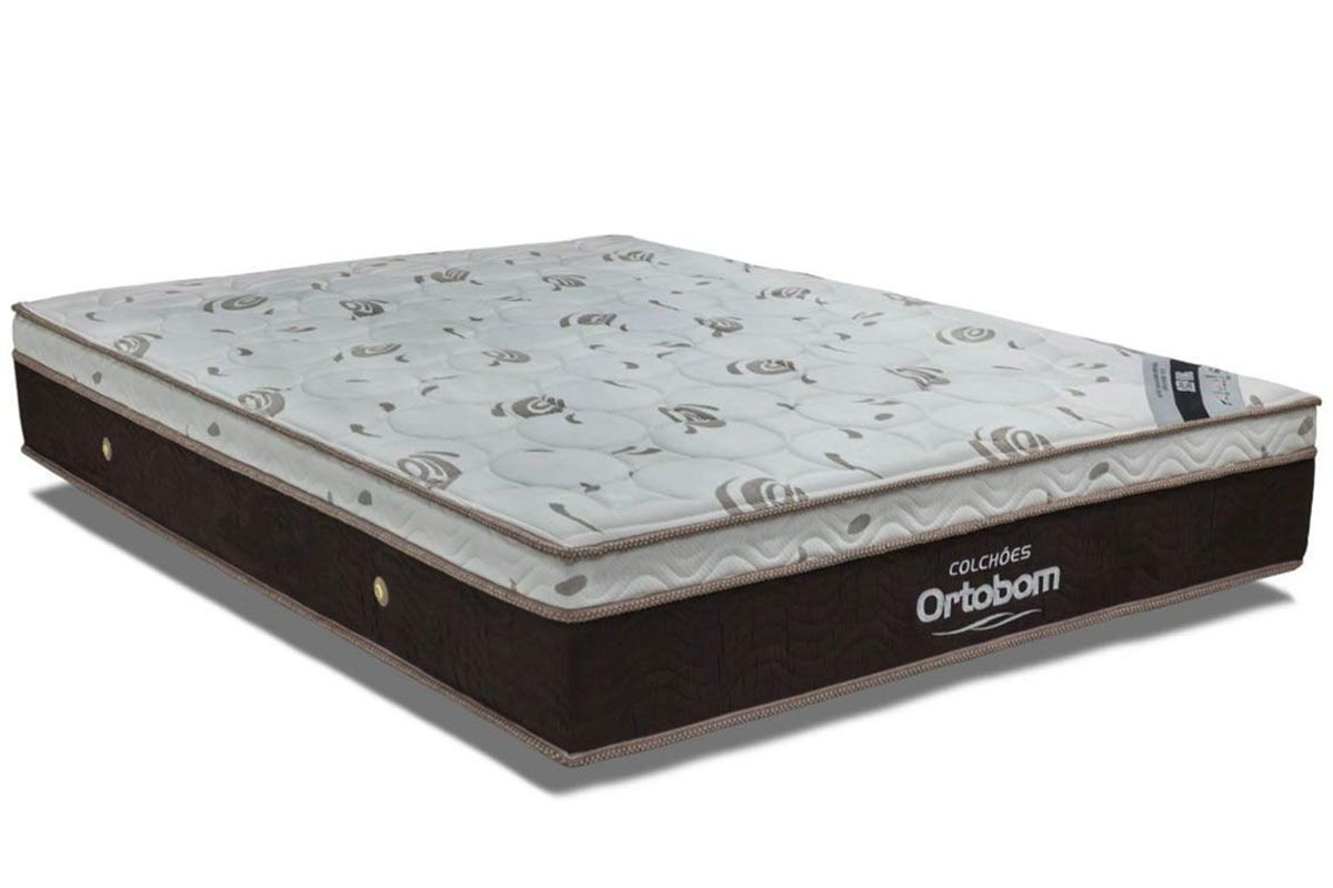Colchão Ortobom Molas Pocket Sleep King LátexColchão King Size - 1,93x2,03x0,32 - Sem Cama Box