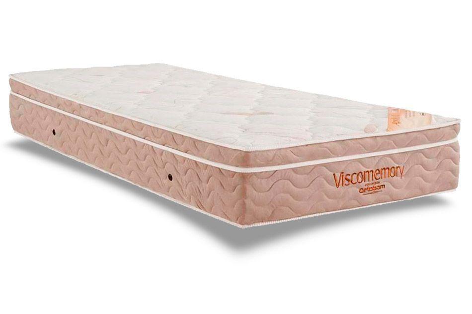 Colchão Ortobom ViscomemoryColchão Solteiro - 0,88x1,88x0,28 - Sem Cama Box