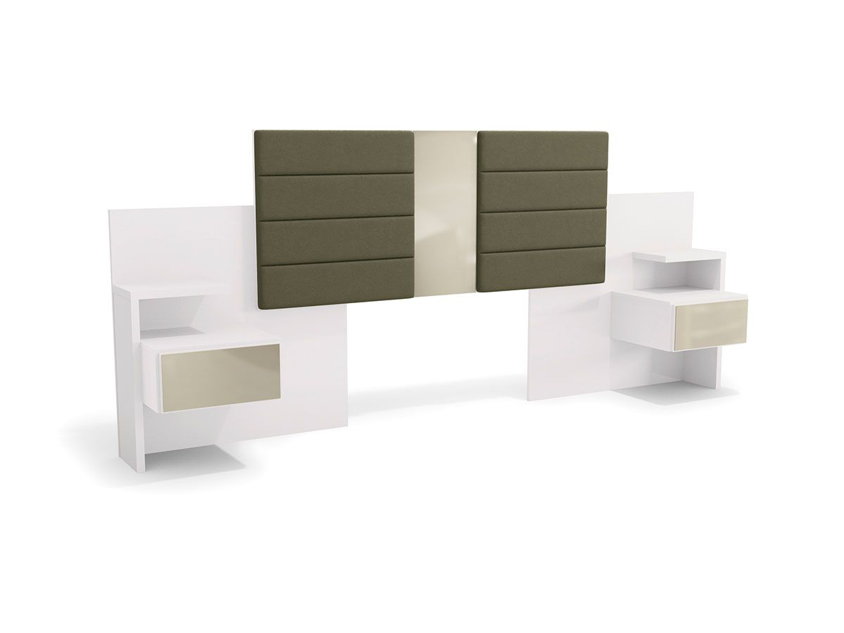 Cabeceira de Cama Box Reversível Casal/Queen Kappesberg G290 c/ 2 Criados MudosCor Branco