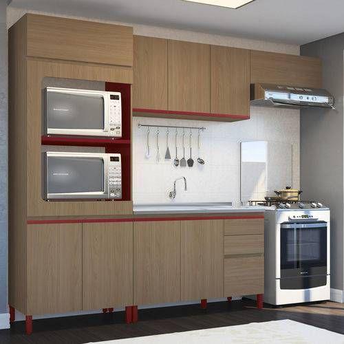Adesivo De Chão Para Festa Infantil ~ Cozinha Completa Kappesberg New Urban c 5 Peças CZ50 (Paneleiro + 2 Armários + Gabinete + Tampo
