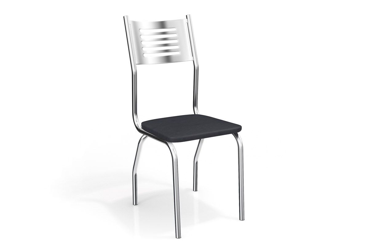 Cadeira Kappesberg Munique Cromada 2C047CRCor Cromada  -  Assento Preto 110