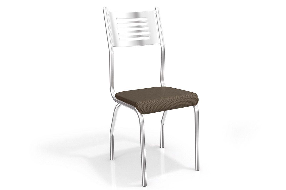 Cadeira Kappesberg Munique Cromada 2C047CRCor Cromado  -  Assento Marrom 21