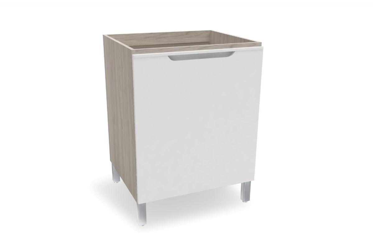 Balcão (Gabinete) de Cozinha Kappesberg Solaris D643 Madeira 1 Porta S/tampo 60cmCor Carvalle/Branco