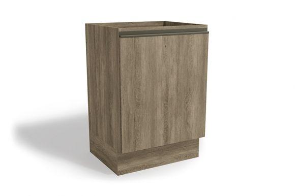 Balcão (Gabinete) de Cozinha Kappesberg Maxxi G742 Madeira 1 Porta S/tampo 60cm (Usar S510 ou E603)Cor Nogal