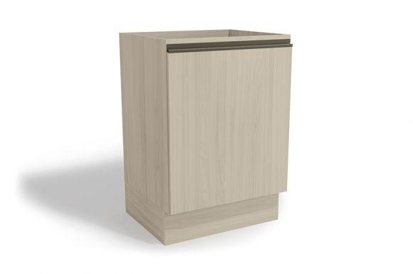 Balcão (Gabinete) de Cozinha Kappesberg Maxxi G742 Madeira 1 Porta S/tampo 60cm (Usar S510 ou E603)Cor Amêndoa