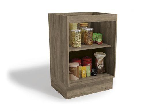 Balcão (Gabinete) de Cozinha Kappesberg Maxxi G742 Madeira 1 Porta S/tampo 60cm (Usar S510 ou E603)