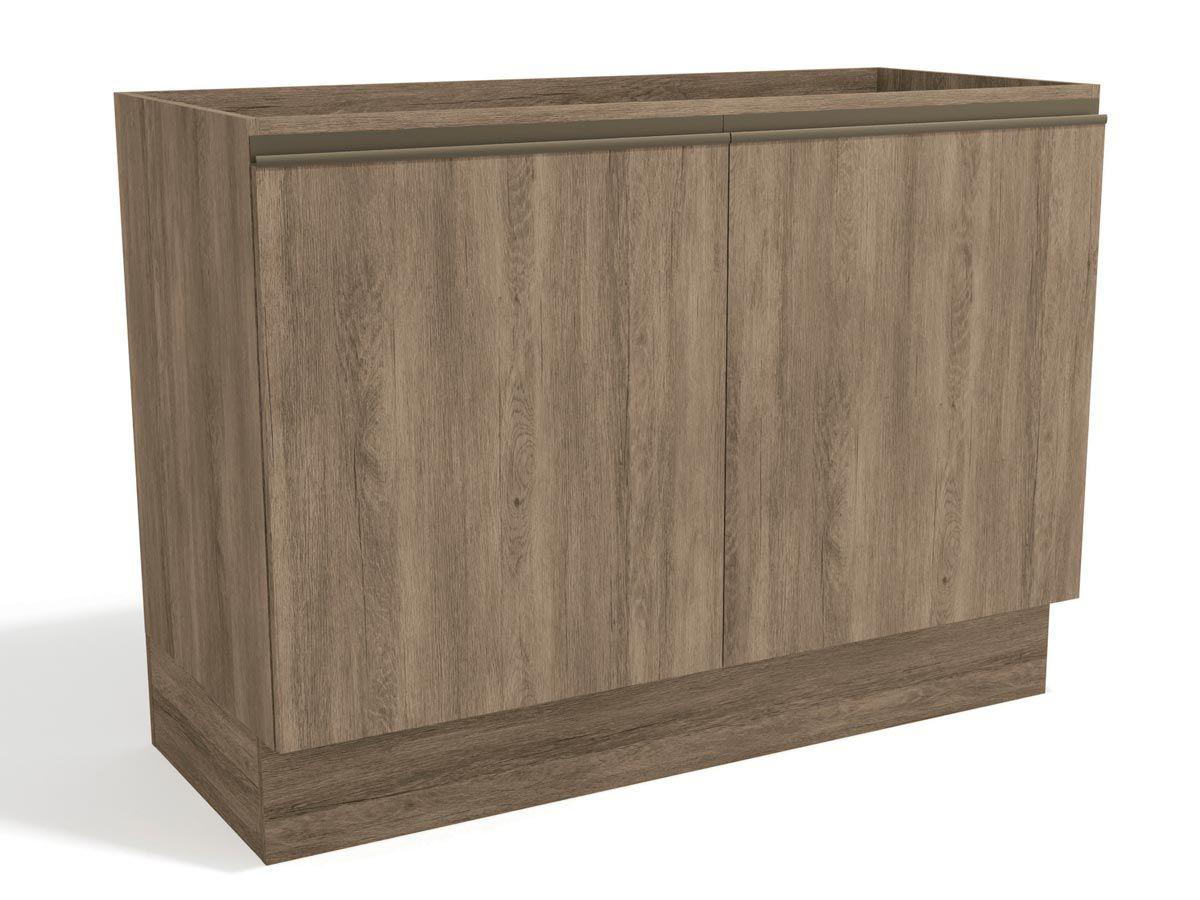 Balcão (Gabinete) de Cozinha Kappesberg Maxxi G745 Madeira 2 Portas S/tampo 120cmCor Nogal