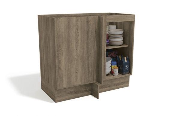 Balcão (Gabinete) de Canto Cozinha Kappesberg Maxxi G748 Madeira 1 Porta S/tampo 98cm