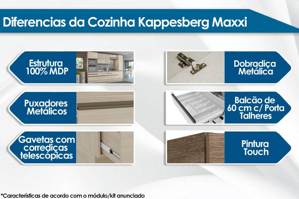 Armário de Cozinha Kappesberg Aéreo Maxxi G761 Madeira 1 Porta 40cm