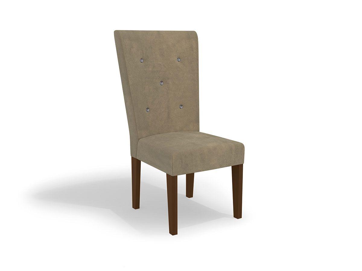 Cadeira Kappesberg Estar 2CAD109 Madeirado (2 Unidades)Cor Walnut  -  Assento/Encosto Marrom