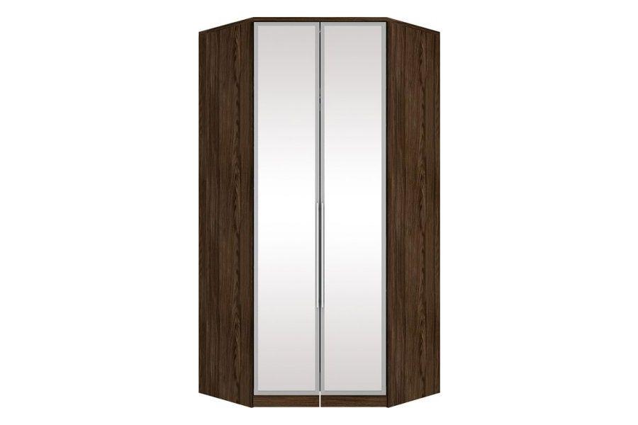 Guarda Roupa Closet de Canto Henn Diamante c/ 2 Portas de Espelho (Componível)Cor Moka