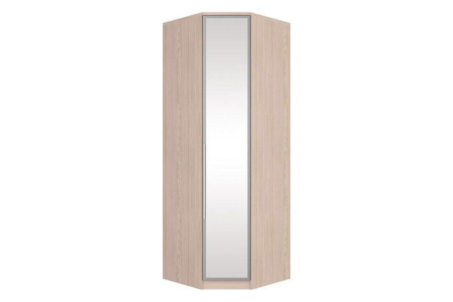 Guarda Roupa Closet de Canto Oblíquo Henn Diamante c/ 1 Porta de Espelho (Componível)Cor Fendi HP