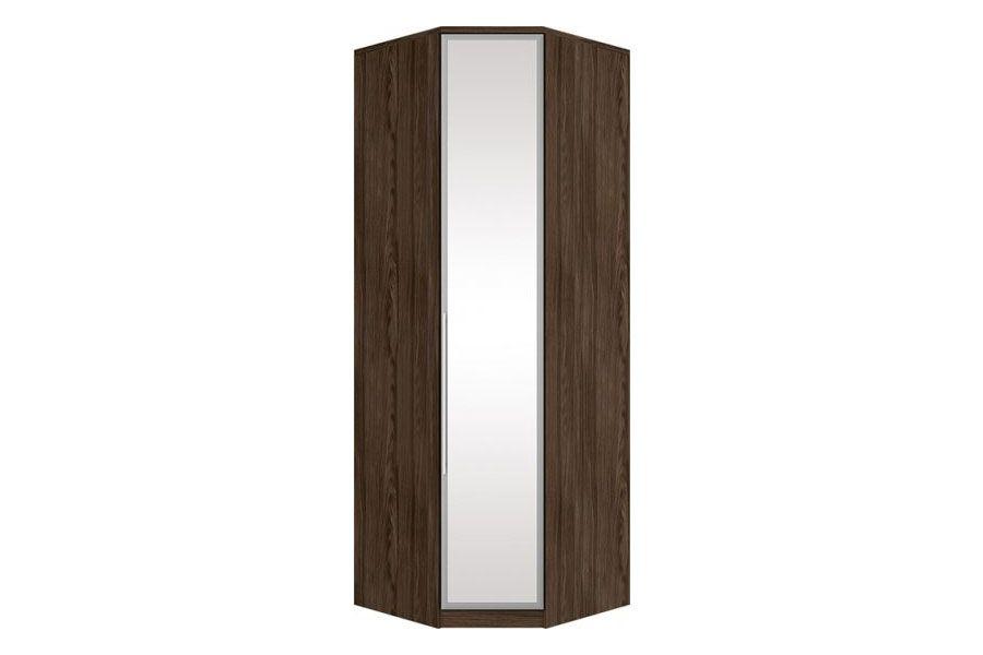 Guarda Roupa Closet de Canto Oblíquo Henn Diamante c/ 1 Porta de Espelho (Componível)Cor Moka