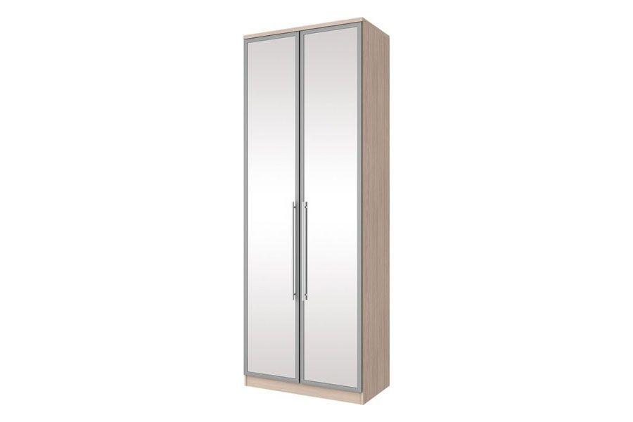 Guarda Roupa Henn Diamante c/ 2 Portas e 3 Gavetas de Espelho (Componível)Cor Fendi HP