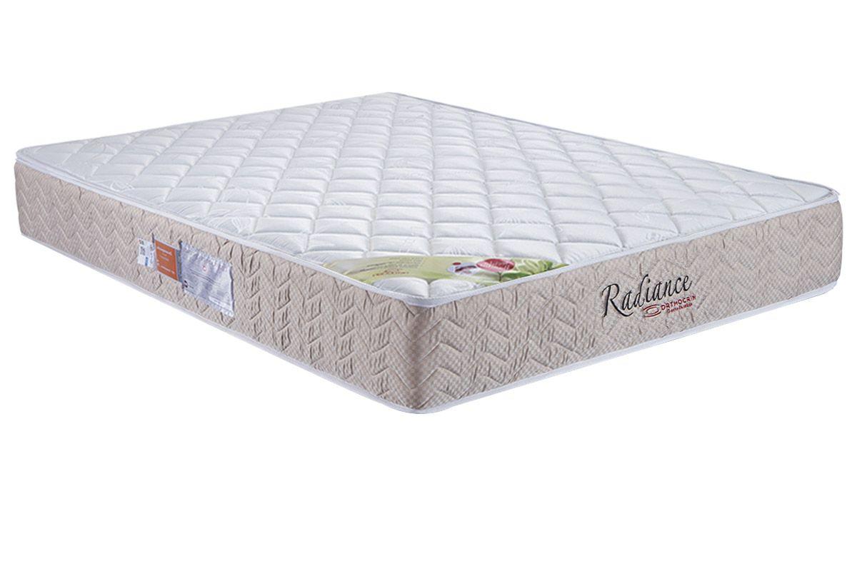 Colchão Orthocrin Molas Pocket Radiance Square BegeColchão Queen Size - 1,58x1,98x0,24 - Sem Cama Box