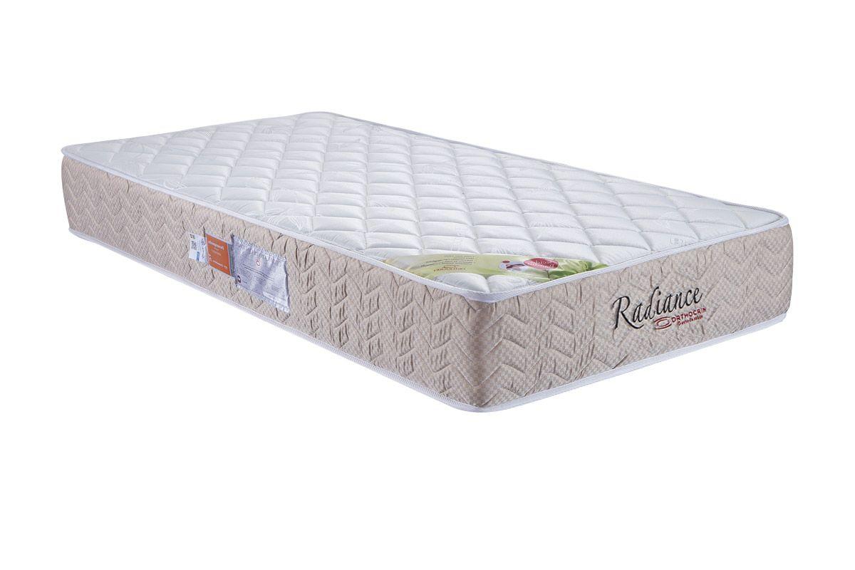 Colchão Orthocrin Molas Pocket Radiance Square BegeColchão Solteiro - 0,88x1,88x0,24 - Sem Cama Box