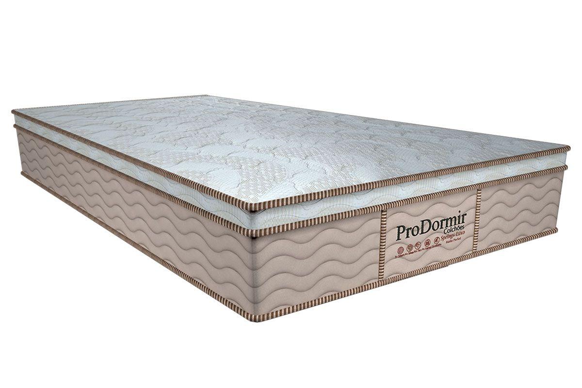 Colchão Probel de Molas Pocket ProDormir Springs Luxo Euro PilowColchão Solteiro - 0,88x1,88x0,28 - Sem Cama Box