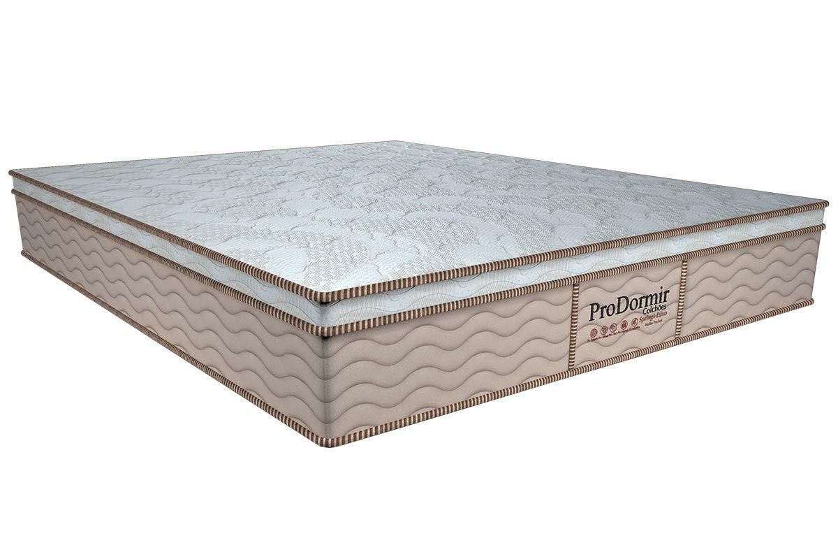 Colchão Probel de Molas Pocket ProDormir Springs Luxo Euro PilowColchão Casal - 1,28x1,88x0,28 - Sem Cama Box