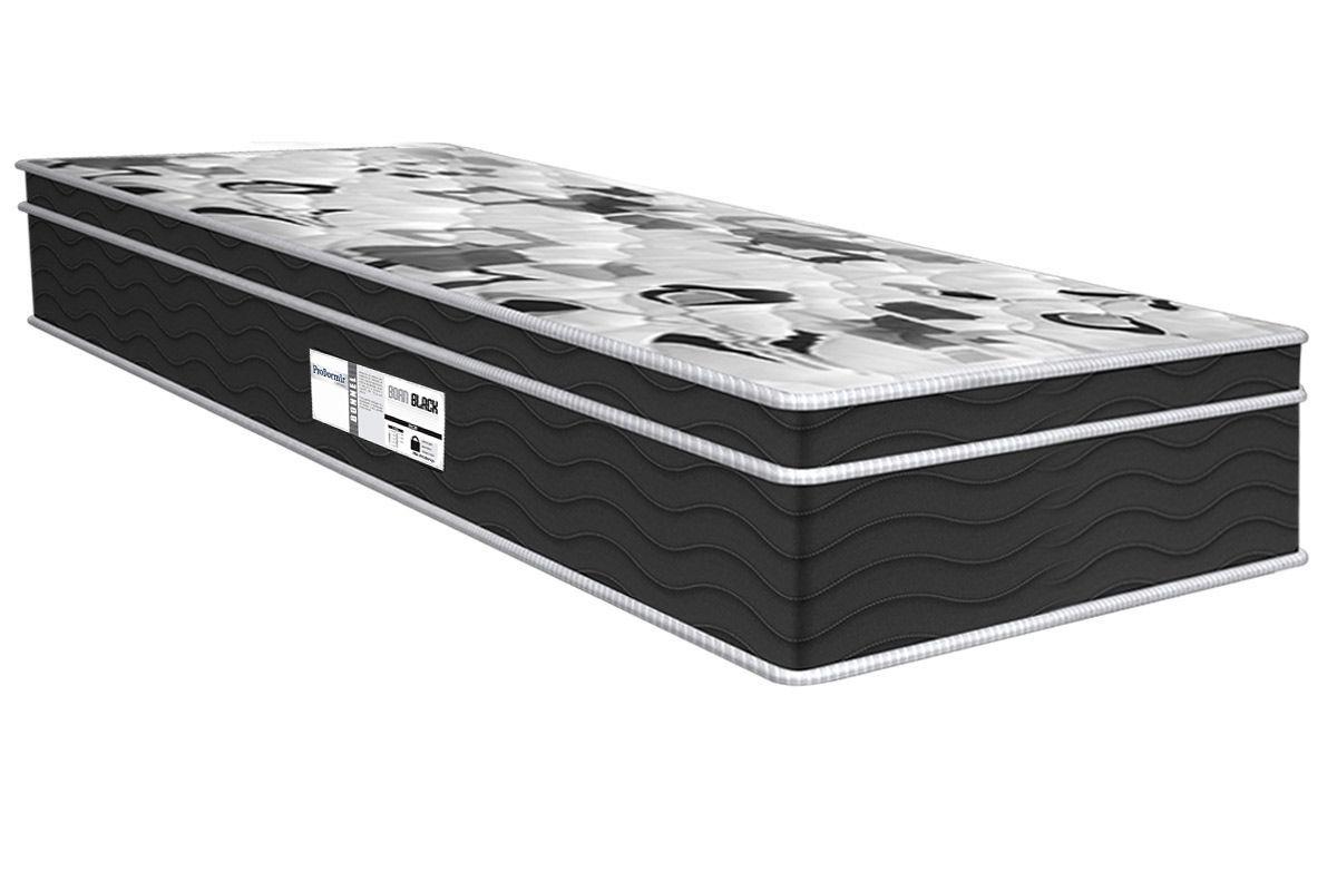 Colchão Probel de Molas Prolastic ProDormir Born Black 26 cmColchão Solteiro - 0,88x1,88x0,26 - Sem Cama Box