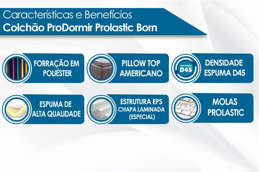 Colchão Probel de Molas Prolastic ProDormir Born Black 26 cm
