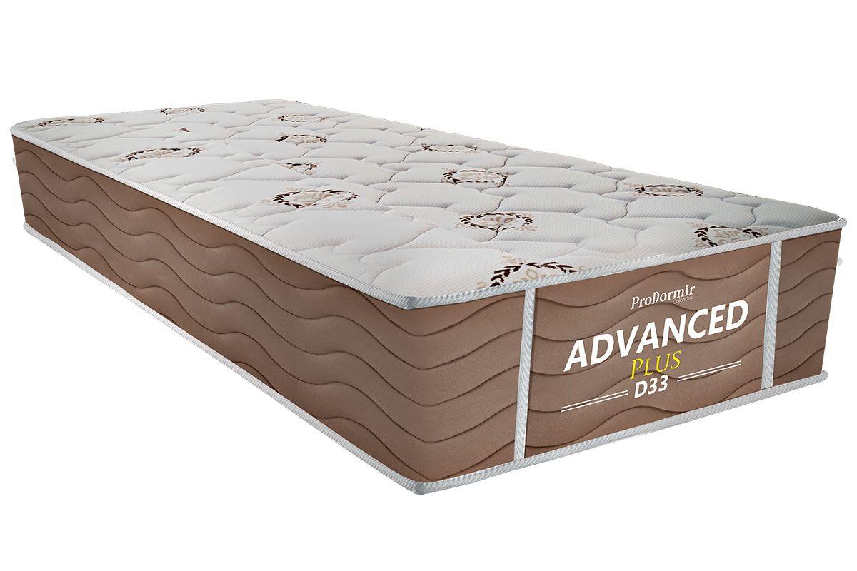 Colchão Probel de Espuma ProDormir Advanced Plus D33 - Bege 26cmColchão Solteiro - 0,88x1,88x0,26 - Sem Cama Box