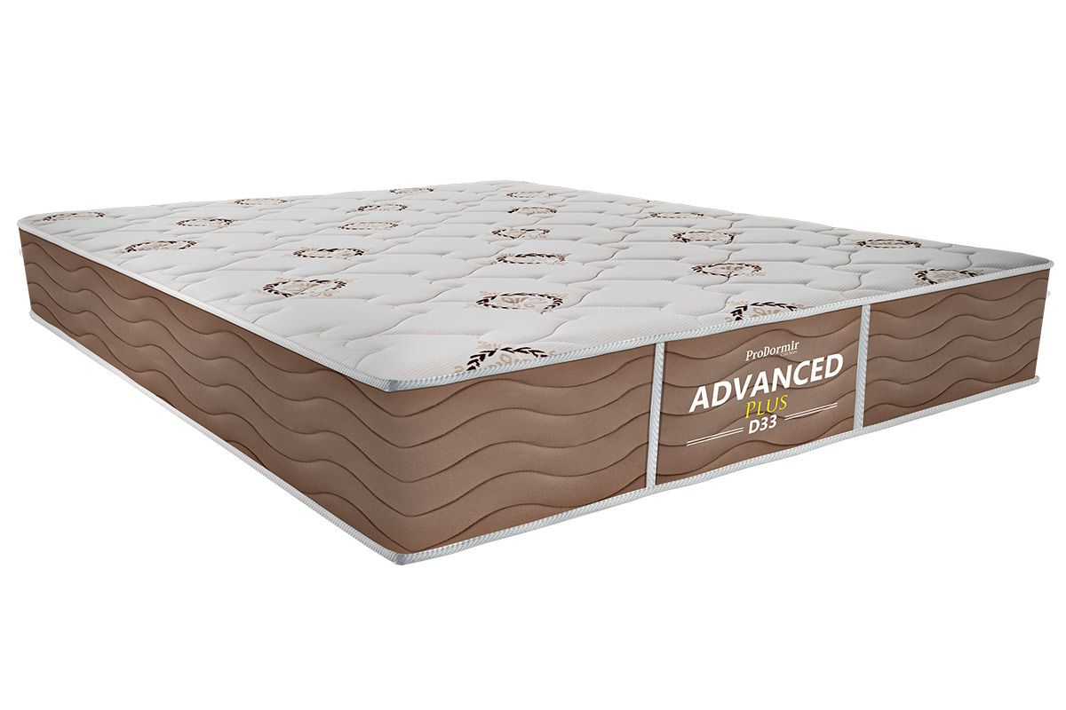 Colchão Probel de Espuma ProDormir Advanced Plus D33 - Bege 26cmColchão Casal - 1,38x1,88x0,26 - Sem Cama Box